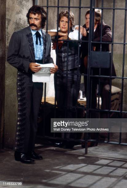 Alejandro Rey Ben Murphy Roger Davis appearing on the ABC tv series 'Alias Smith and Jones' episode 'The Clementine Ingredient'