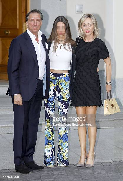 Alejandro Rubio and Alejandra Rubio attend Maria Teresa Campos's 74th birthday on June 18 2015 in Madrid Spain
