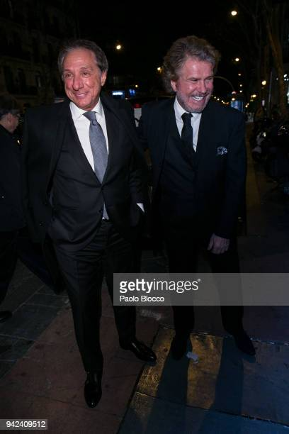Alejandro Rubio and Edmundo Arrocet arrive at the Alejandra Rubio 18th birthday party at Gabana Club on April 5 2018 in Madrid Spain