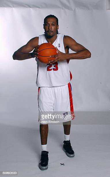 Alejandro Sanchez of the Detroit Pistons poses for a portrait during the Pistons Media Day on October 3 2005 in Auburn Hills Michigan NOTE TO USER...