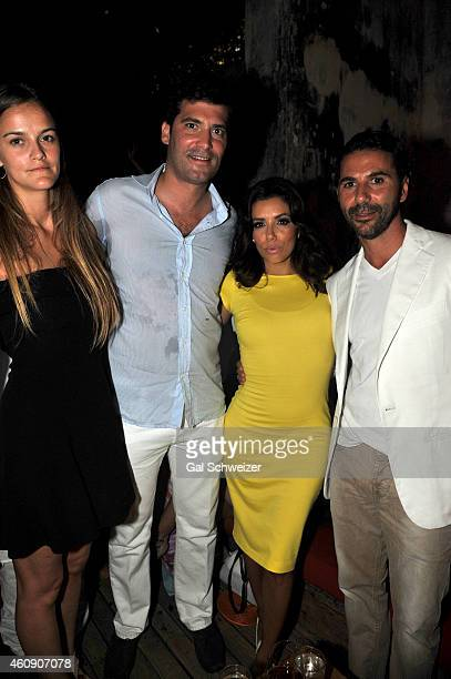 Alejandro Santo Domingo and actress Eva Longoria pose for a photo during the Pre New Year´s Affair in celebration of the Opening of W Bogotá held at...