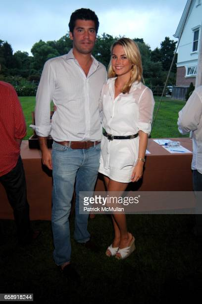 Alejandro Santo Domingo and Amanda Hearst attend BEST BUDDIES Hamptons Gala at Home of Anne Hearst McInerney and Jay McInerney on August 21 2009 in...