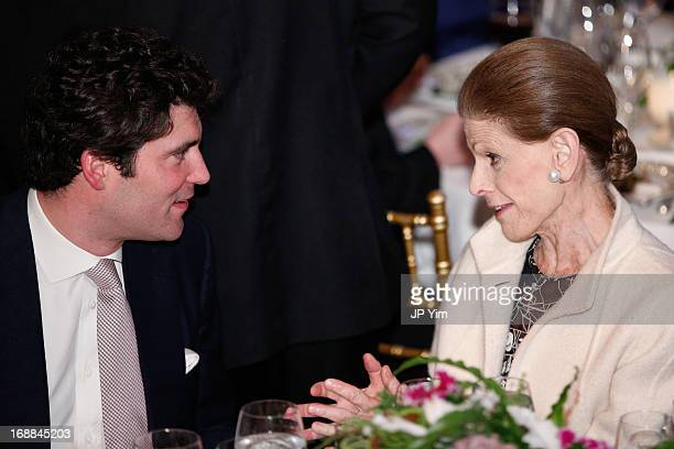 Alejandro Santo Domingo and Annette de la Renta attend the Conservation International 16th Annual New York Dinner at The Plaza Hotel on May 15 2013...