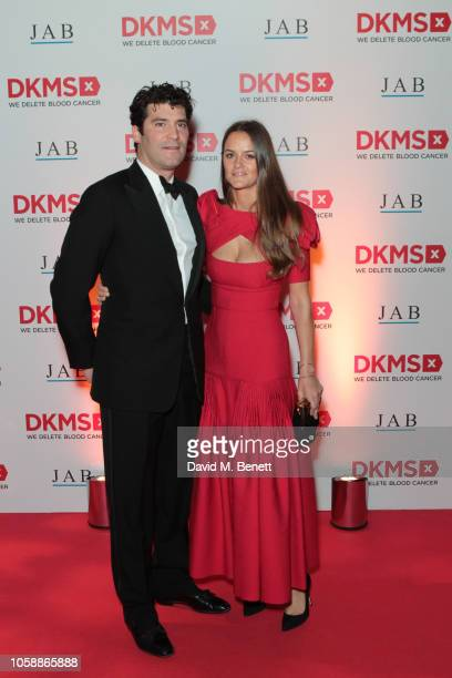 Alejandro Santo Domingo and Charlotte Santo Domingo attend the Second Annual DKMS Big Love Gala at The Roundhouse on November 7 2018 in London England