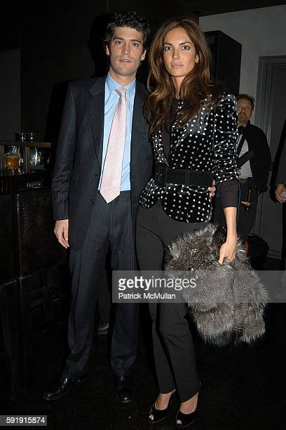 Alejandro Santo Domingo and Eugenia Silva attend Blackglama Vogue CoHost Cocktail Party for Elle Macpherson in Celebration of her What Becomes A...