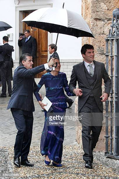 Alejandro Santo Domingo attends his wedding with Lady Charlotte Wellesley at Illora on May 28 2016 in Granada Spain