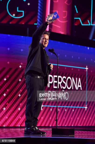 Alejandro Sanz accepts the Person of the Year award onstage during The 18th Annual Latin Grammy Awards at MGM Grand Garden Arena on November 16 2017...