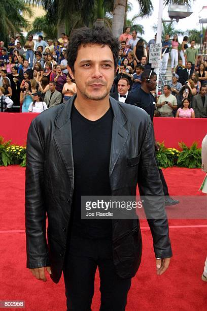 Alejandro Sanz arrives at the 12th Annual Billboard Latin Music Awards April 26 2001 in Miami Beach FL The event is a showplace for Hispanic talent...