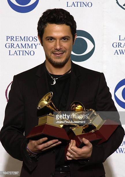 Alejandro Sanz during 3rd Annual Latin GRAMMY Awards Press Room at Kodak Theatre in Hollywood California United States