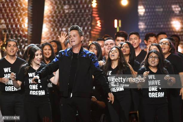 Alejandro Sanz performs onstage at the 18th Annual Latin Grammy Awards at MGM Grand Garden Arena on November 16 2017 in Las Vegas Nevada