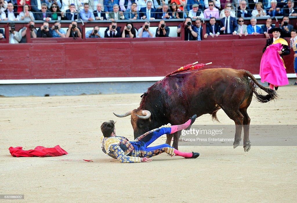 Celebrities Attend Bullfighting In Madrid