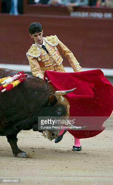 Alejandro Talavante performs during San Isidro Fair at Las Ventas Bullring on May 29 2014 in Madrid Spain
