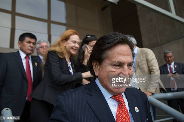 Alejandro Toledo former President of Perú looks on during the Asia Pacific Economic Cooperation Summit on November 19 2016 in Lima Peru