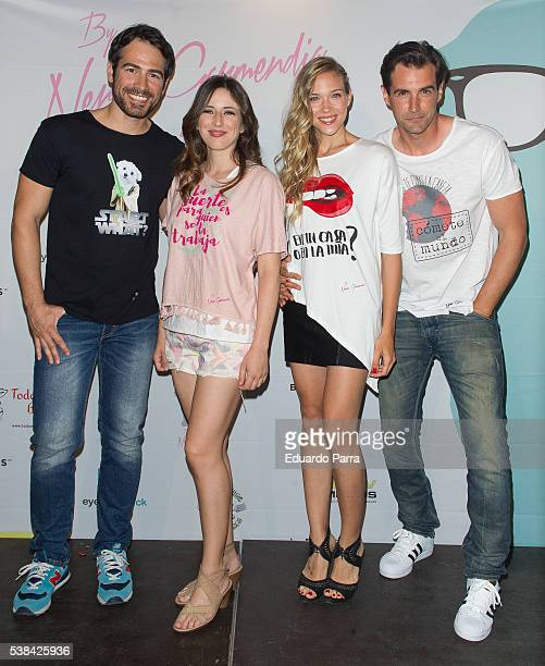 Alejandro Tous actress Ruth Nunez actress Patricia Montero and actor Alex Adrover attend the ''By Nerea Garmendia' 2nd anniversary party photocall at...