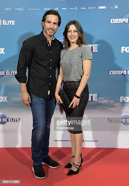 Alejandro Tous and Ruth Nunez attend the 'Cuerpo de Elite' premiere at Capitol cinema on August 25 2016 in Madrid Spain