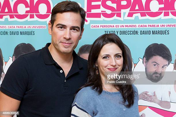 Alejandro Tous and Ruth Nunez attend the 'Espacio' premiere at 'Nuevo Alcala' theatre on September 16 2015 in Madrid Spain