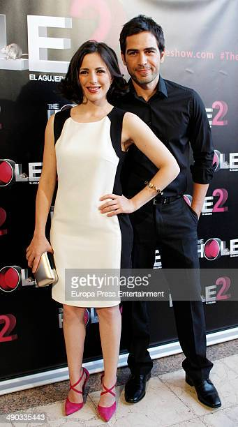 Alejandro Tous and Ruth Nunez attend 'The Hole 2' closing party photocall on May 13 2014 in Madrid Spain