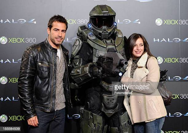 Alejandro Tous and Ruth Nunez attend the premiere of'Halo 4 Forward Unto Dawn' Madrid Premiere at Callao Cinema on November 5 2012 in Madrid Spain