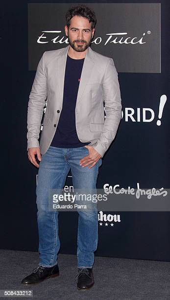 Alejandro Tous attends Emidio Tucci fashion show photocall on February 4 2016 in Madrid Spain