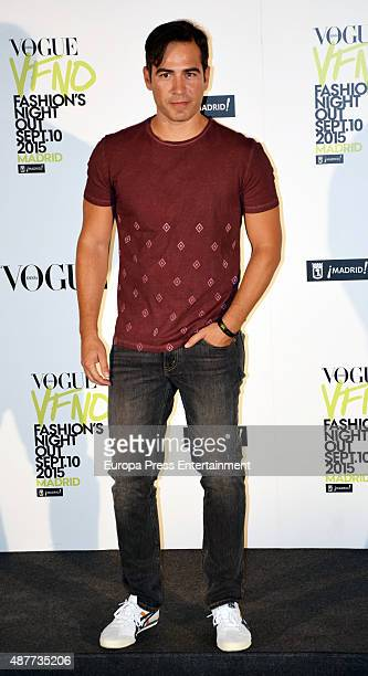 Alejandro Tous attends Vogue Fashion Night Out Madrid 2015 photocall on September 10 2015 in Madrid Spain