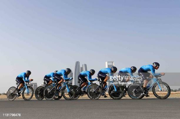 Alejandro Valverde Belmonte of Spain and Movistar Team / Andrey Amador Bikkazakova of Costa Rica and Movistar Team / Daniele Bennati of Italy and...