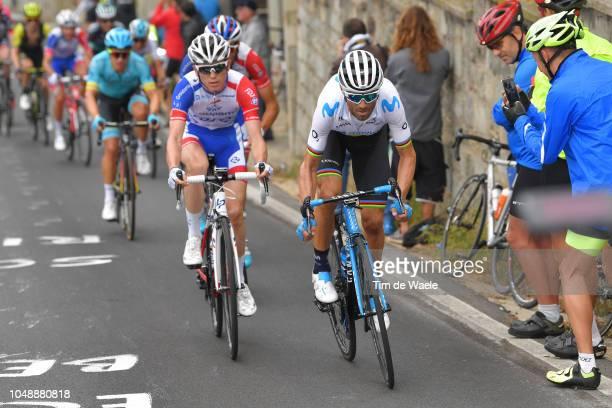 Alejandro Valverde Belmonte of Spain and Movistar Team / David Gaudu of France and Team Groupama FDJ / during the 99th Milano Torino 2018 a 200km...