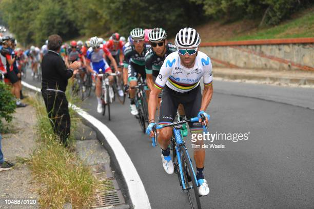 Alejandro Valverde Belmonte of Spain and Movistar Team / during the 99th Milano Torino 2018 a 200km race from MagentaMilan to TorinoSuperga 669m on...