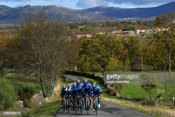 Alejandro Valverde Belmonte of Spain and Movistar Team / Enric Mas Nicolau of Spain and Movistar Team White Best Young Rider Jersey / Marc Soler...