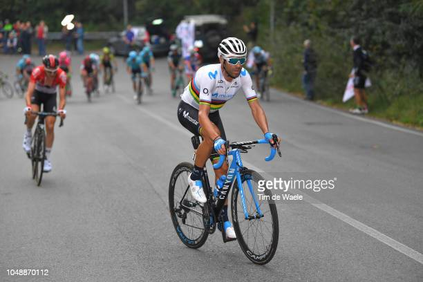 Alejandro Valverde Belmonte of Spain and Movistar Team / Tim Wellens of Belgium and Team Lotto Soudal / during the 99th Milano Torino 2018 a 200km...