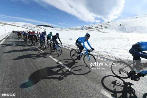 Alejandro Valverde Belmonte of Spain and Team Movistar / Col de La Creueta 1925m, Snow / during the 98th Volta Ciclista a Catalunya 2018, Stage 4 a...