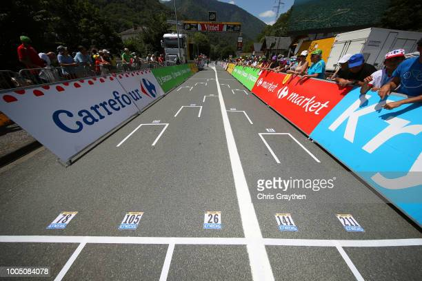 Alejandro Valverde of Spain and Movistar Team / Bob Jungels of Luxembourg and Team Quick-Step Floors / Pierre Latour of France and Team AG2R La...