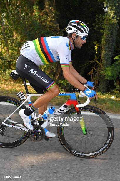 Alejandro Valverde of Spain and Movistar Team / Canyon World Champion Bike / during the 112th Il Lombardia 2018 a 241km race from Bergamo to Como /...