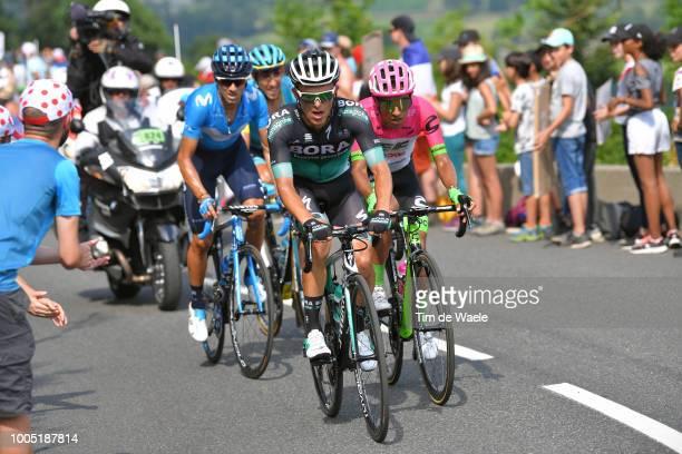 Alejandro Valverde of Spain and Movistar Team / Daniel Felipe Martinez of Colombia and Team EF Education First - Drapac P/B Cannondale / Rafal Majka...