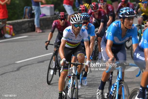 Alejandro Valverde of Spain and Movistar Team / during the 106th Tour de France 2019, Stage 14 a 117km stage from Tarbes to Tourmalet Barèges 2115m -...