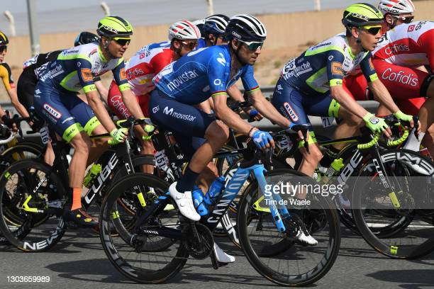 Alejandro Valverde of Spain and Movistar Team during the 3rd UAE Tour 2021, Stage 3 a 166km stage from Al Ain - Strata Manufacturing to Jebel Hafeet...