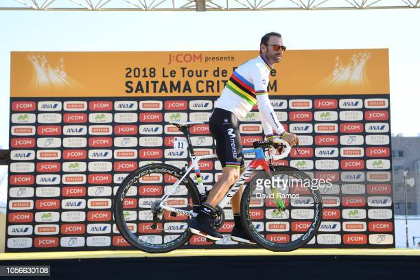 Alejandro Valverde of Spain and Movistar Team / during the 6th Tour de France Saitama Criterium 2018 Media Day / Team Presentation / TDF / on...