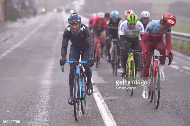 Alejandro Valverde of Spain and Movistar Team / during the 73rd Dwars door Vlaanderen 2018 a 1801km race from Roeselare to Waregem on March 28 2018...