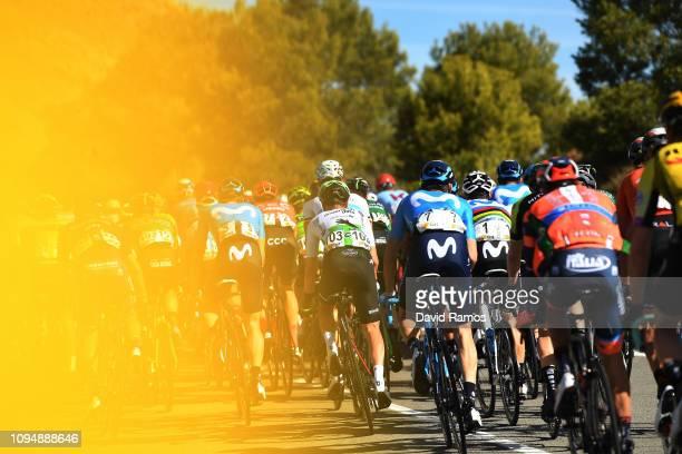 Alejandro Valverde of Spain and Movistar Team / Enrico Gasparotto of Italy and Team Dimension Data / Peloton / during 70th Volta a la Comunitat...
