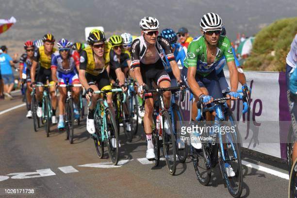 Alejandro Valverde of Spain and Movistar Team Green Points Jersey / Wilco Kelderman of The Netherlands and Team Sunweb / Steven Kruijswijk of The...