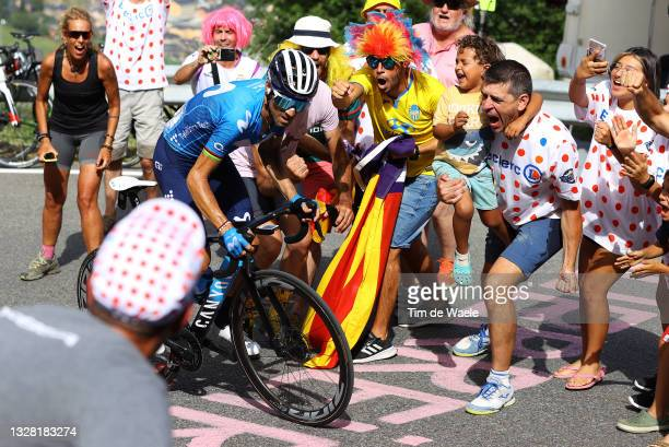 Alejandro Valverde of Spain and Movistar Team in breakaway during the 108th Tour de France 2021, Stage 15 a 191,3km stage from Céret to...
