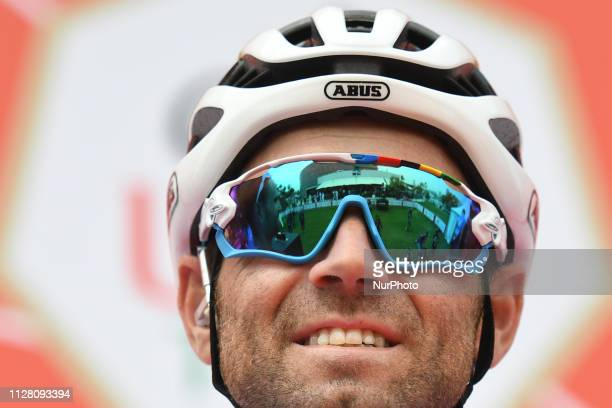 Alejandro Valverde of Spain and Team Movistar seen at the start line of the fifth Sharjah Stage of UAE Tour 2019 a 181km with a start from...