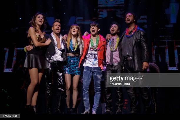 Alejandro Vega, Ana Polvorosa, David Carrillo, Xavi Navarro, Andra Guasch, Adrian Lastra and Canco Rodriguez dance during rehearsals for the press...