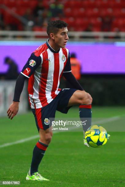 Alejandro Zendejas of Chivas controls the ball during the 4th round match between Chivas and Venados as part of the Torneo Clausura 2017 Copa MX at...