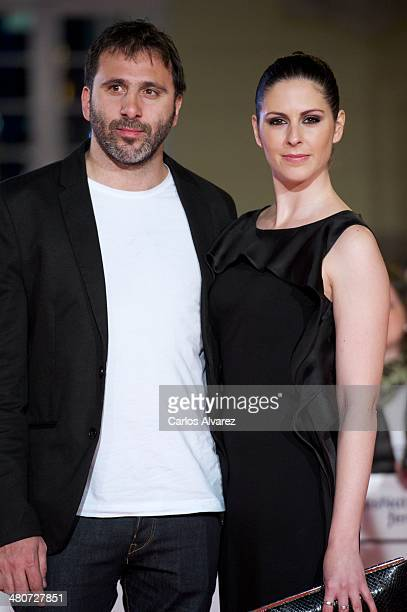 Alejo Flah and Barbara Santa Cruz attend the Por un Punado de Besos premiere during the 17th Malaga Film Festival 2014 Day 6 at the Cervantes Theater...