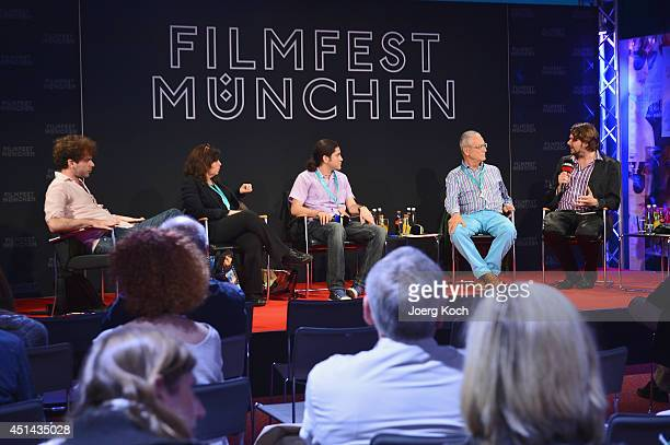 Alejo Moguillansky Mariana Rondon Jose Luis Valle Luis Minarro and Florian Borchmeyer attend the 'Nuevo Cine Hispano' Panel as part of Filmfest...