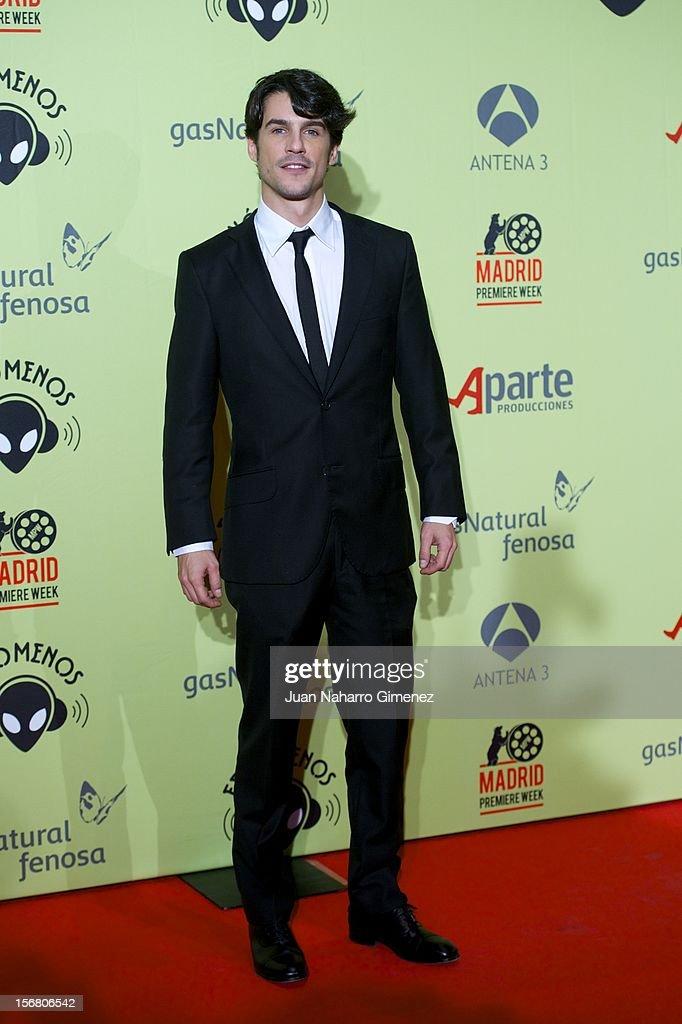 Alejo Sauras attends 'Fenomenos' Premiere at Callao Cinema on November 21, 2012 in Madrid, Spain.