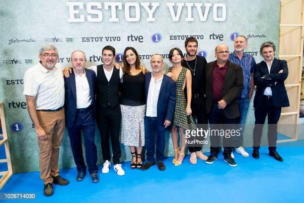 Alejo Sauras Cristina Plazas Javier Gutierrez Anna Castillo and Alfonso Bassave attends to presentation of 'Estoy Vivo' during FestVal in Vitoria...