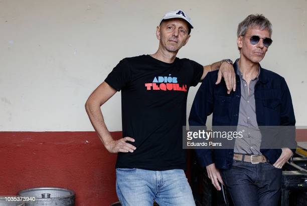 Alejo Stivel and Ariel Rot of pop band Tequila attend their 'Farewell Tour' press conference at Las Ventas bullring on September 18 2018 in Madrid...