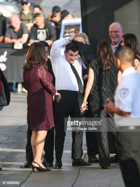 Alek Skarlatos is seen arriving at 'Jimmy Kimmel Live' on February 05 2018 in Los Angeles California