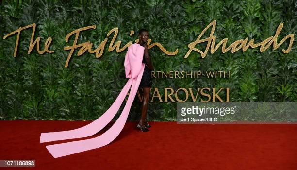 Alek Wek arrives at The Fashion Awards 2018 In Partnership With Swarovski at Royal Albert Hall on December 10 2018 in London England